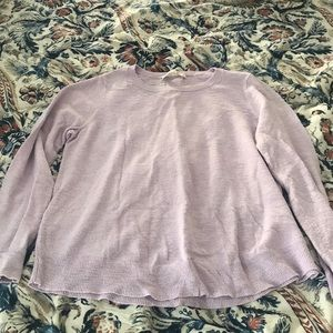 Loft Lilac colored Long Sleeve Top